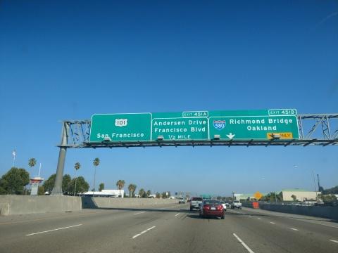 San Francisco Road Sign